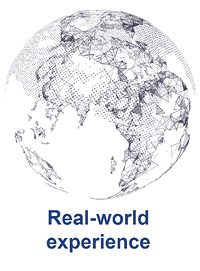 Global Reach Globe With Text