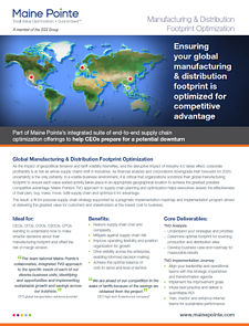 Global Manufacturing & Distribution Footprint Optimization Thumbnail