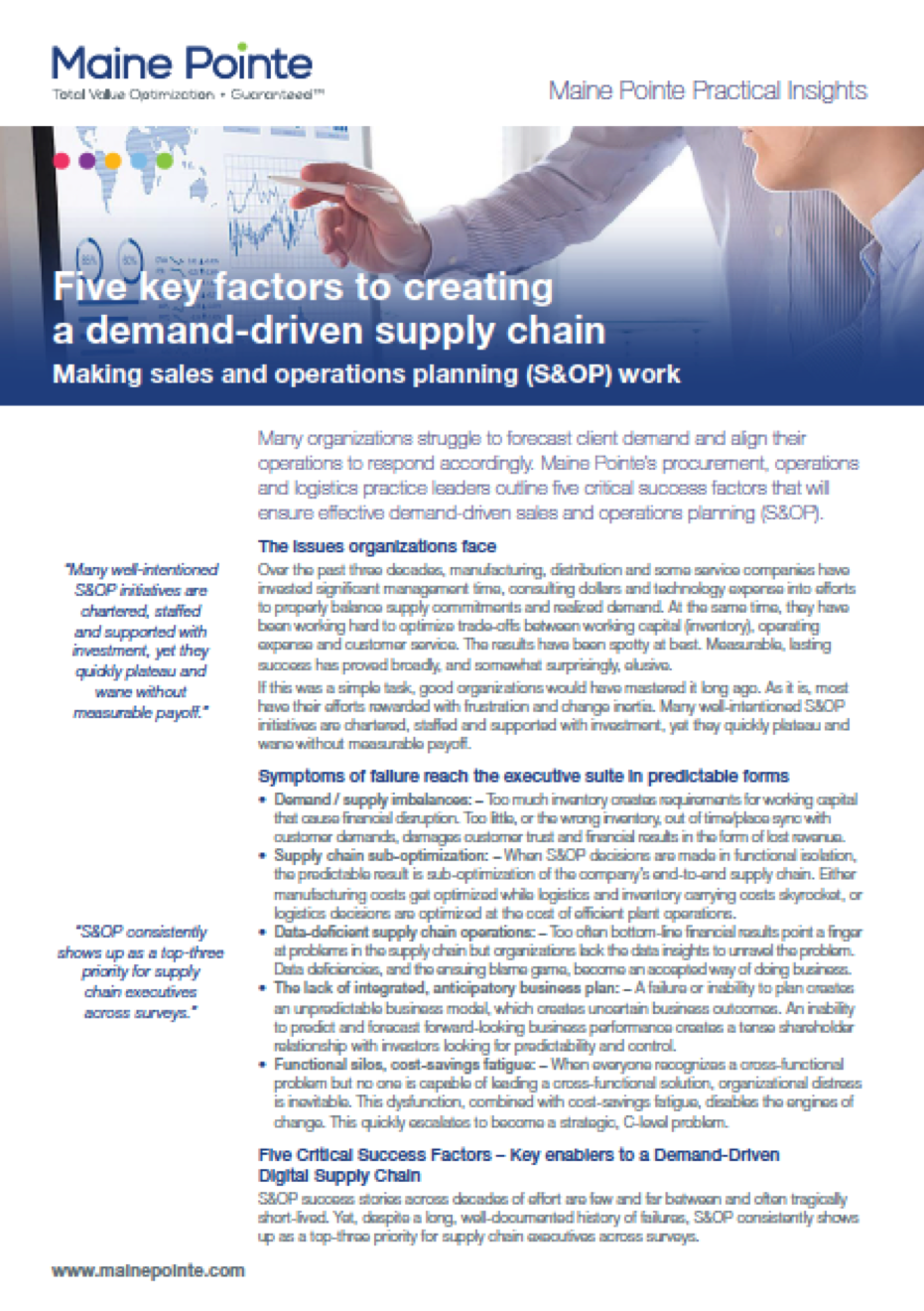 Five key factors to creatind a demand-driven supply chain thumbnail