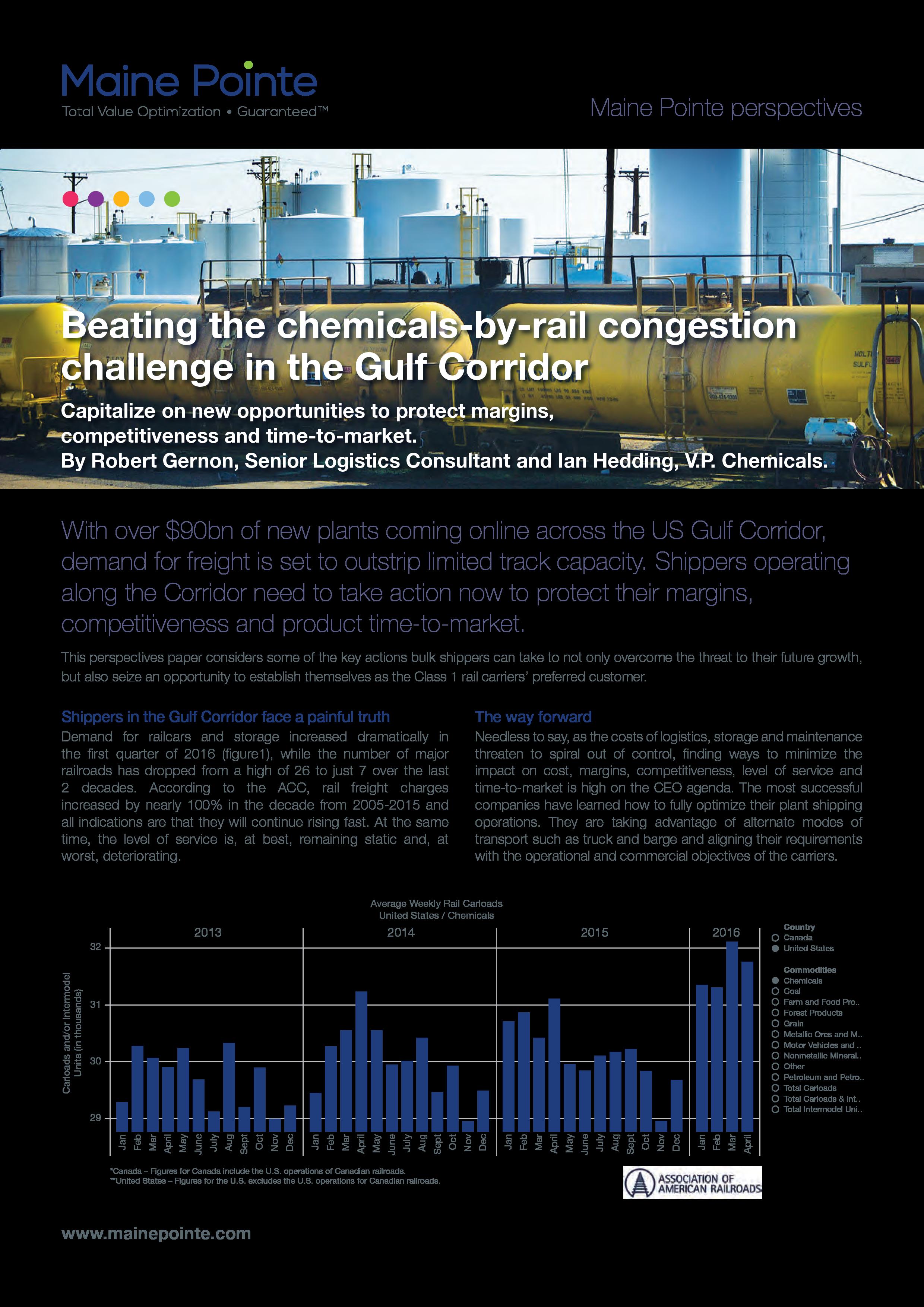 Gulf Corridor Chemicals-by-Rail