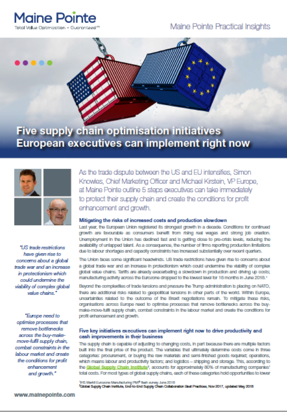 Five supply chain optimisation initiatives European executives can implement right now thumbnail