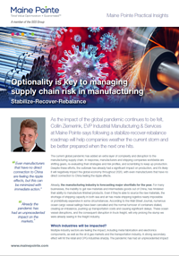 Supply chain optionality manufacturing thumbnail
