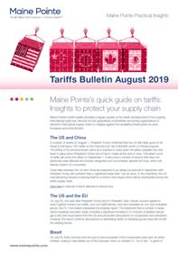 August 2019 Tariff Bulletin Thumbnail