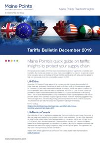 December 2019 Tariff Thumbnail