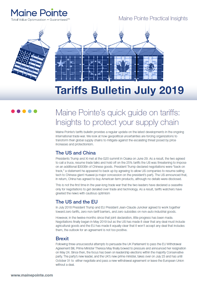 July Tariff Bulletin Thumbnail
