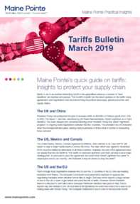 March Tariff Bulletin Thumbnail