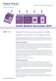 Tarifffs Bulletin November 2019 Thumbnail
