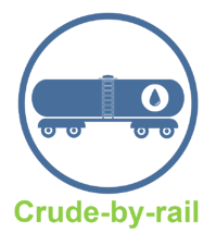 crude by rail icon