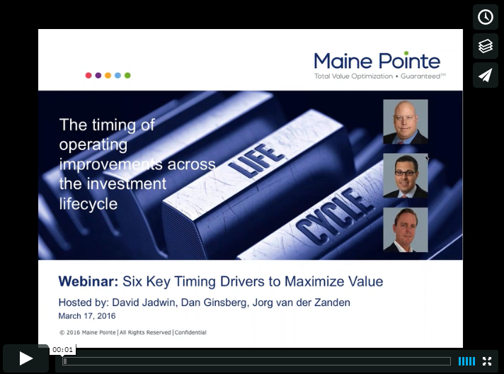Maine Pointe On-Demand Webinar: The Timing of Operating Improvements Across the Investment Lifecycle