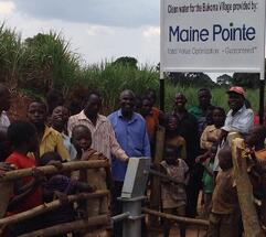 Well in Bukoma village Uganda Maine pointe